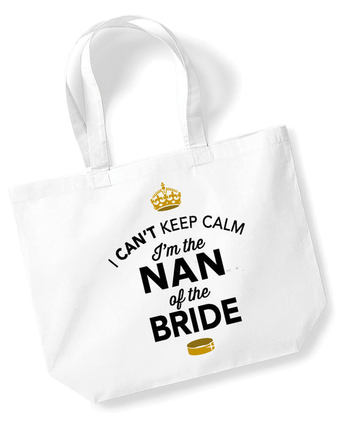 Nan Of The Bride, Hen Party, Bachelorette Party, Hen Party Bag, Nan Of The Bride gifts, Hen Do Gifts, Ideas For Bride, Bride present, Shopping Bag, Nan Of The Bride Bag, Tote Bag, Hen Party Gift Bag, Bride keepsake, Team Bride