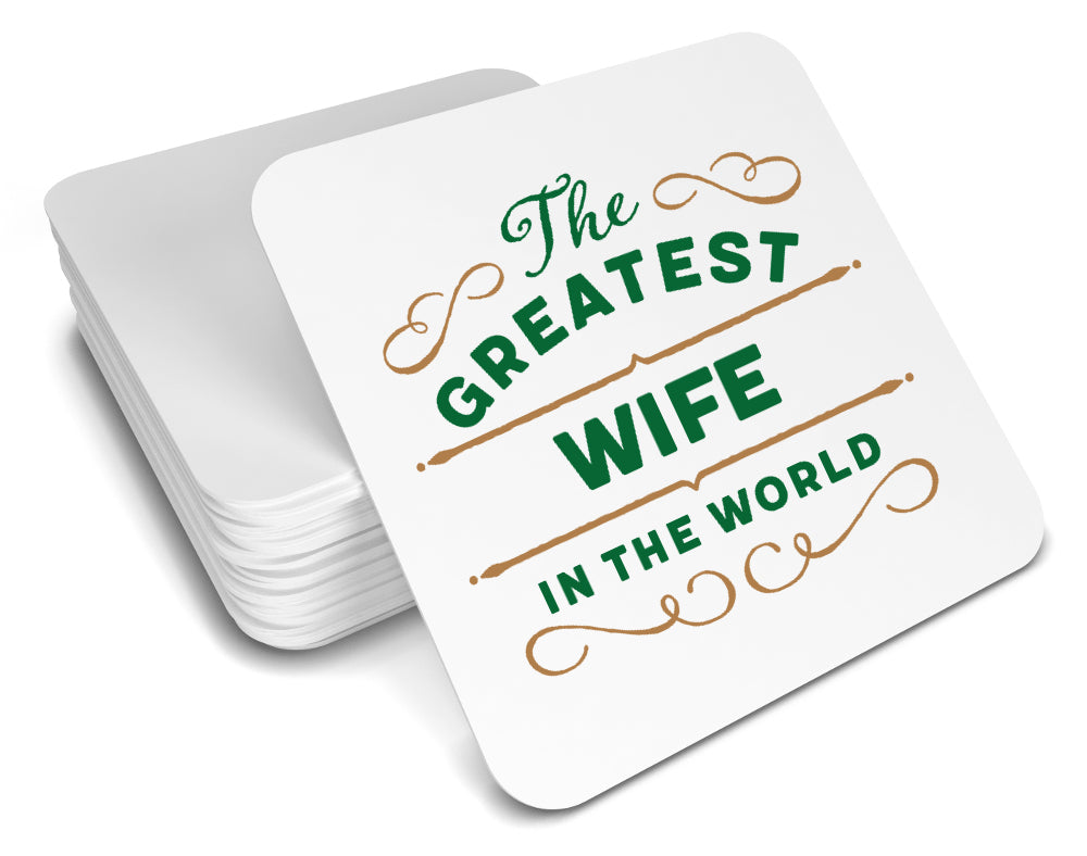 Greatest Wife Gift, Wife Coaster, Birthday Gift For Wife ! Wife Present, Wife Birthday Gift!