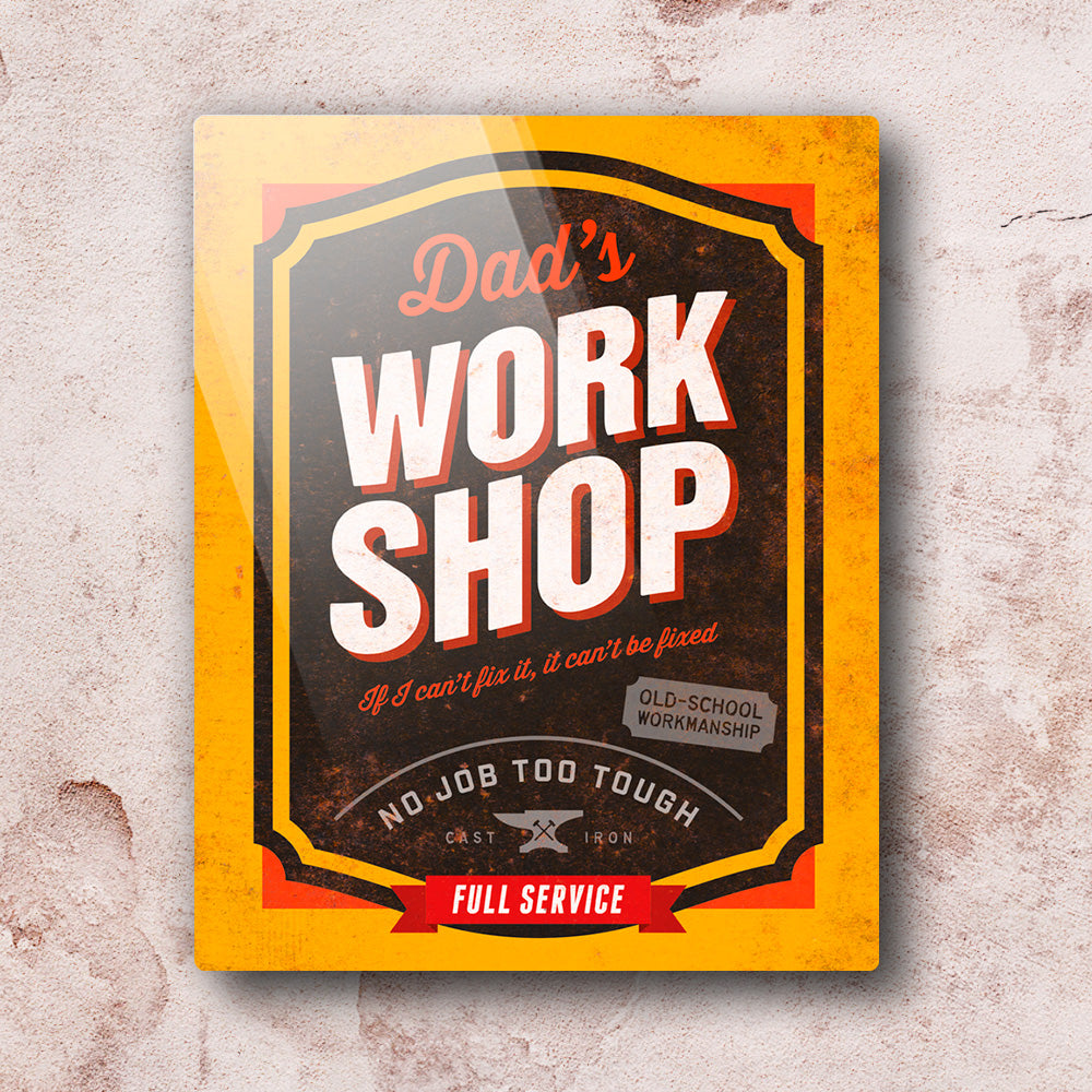 Dad Gift Daddy Birthday For Dads Work Shop Wall Art