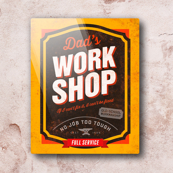 Dad Gift, Daddy, Birthday Gift For Dad! Dad's Work Shop, Wall Art Present, New Dad Gift, Dad To Be, Dad Picture Frame, Dad Christmas Gift
