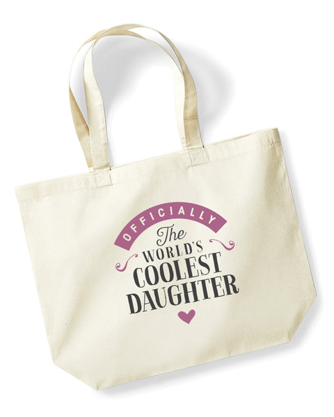 Daughter Gift, Daughter Birthday Bag, Keepsake, Tote, Shopping Bag