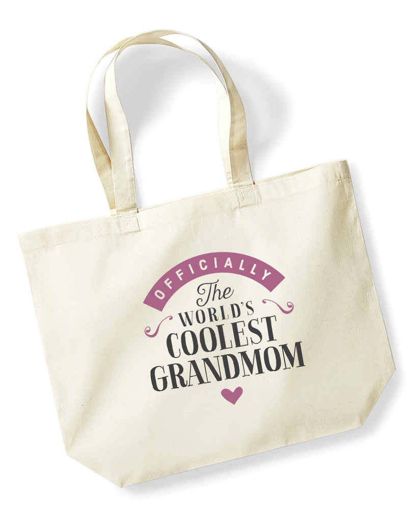Grandmom Gift, Great Grandmom Birthday Bag, Keepsake, Tote, Shopping Bag