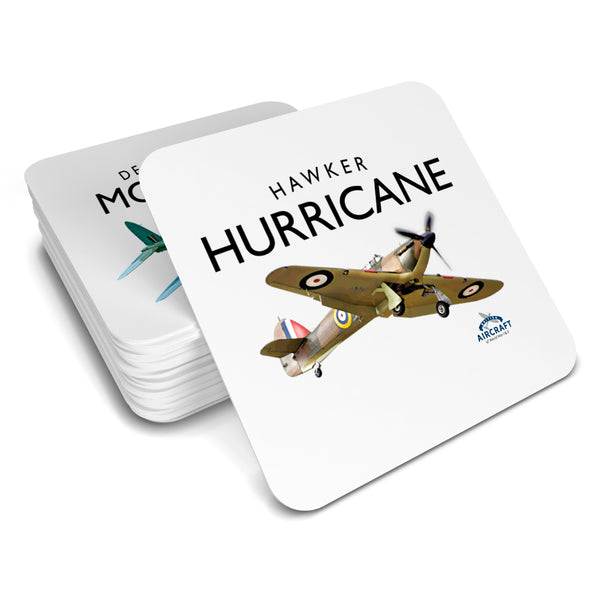 Hawker Hurricane Gift, Flying Legend, Drinks Coaster, WWII Aircraft Gift For Men and Women