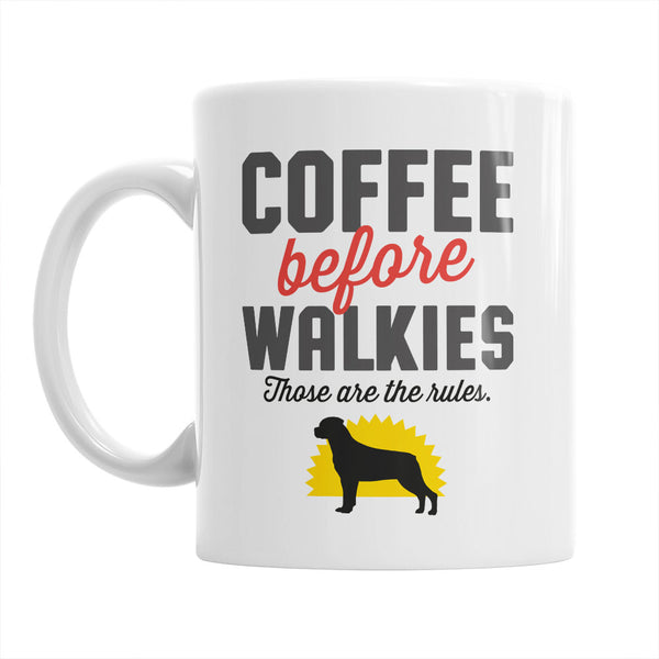 Rottweiler Mug, Rottweiler Gift For The Rottweiler Lover Who Also Loves Coffee, Rottweiler Coffee Mug, Dog Lover Gift, Rottweiler Present
