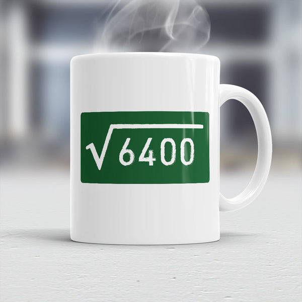 80th Birthday, 80th Birthday Gift, 80th Birthday Idea, Square Root 6400, Happy Birthday, 80th Birthday Present, 80 year old
