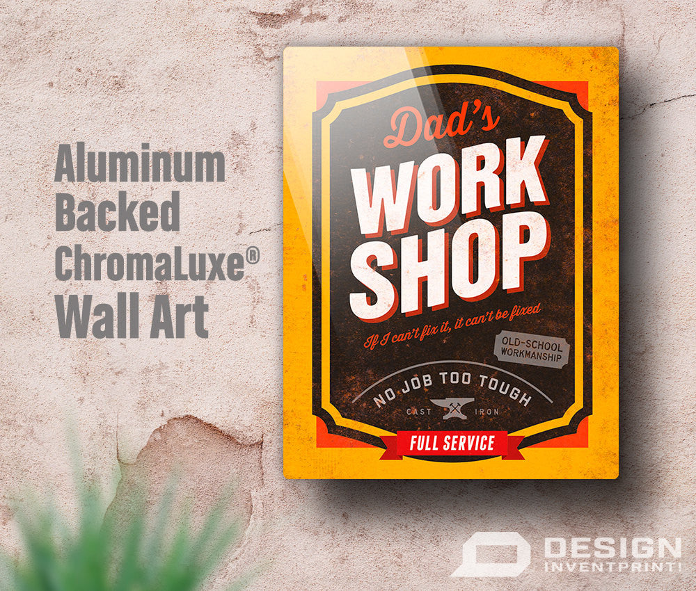 dad gift daddy birthday gift for dad dad s work shop wall art