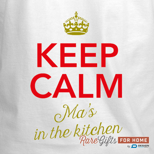 Ma Gift, Birthday Gift For Ma! Funny Apron, Keep Calm, Ma's Kitchen, Cooking Gift, Awesome Ma, Personalized, Alternative Ma Shirt