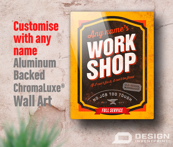 Workshop Sign, Custom gift, Custom picture frame, Personalized, Custom present, Custom birthday gift Custom birthday, Custom Wok Shop Sign,