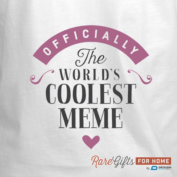 Meme Gift, Birthday Gift For Meme! Funny Apron, World's Coolest Meme, Cooking Gift, Awesome Meme, Personalized, Alternative Meme Shirt