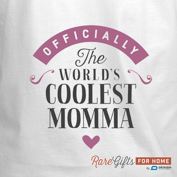 Momma Gift, Birthday Gift For Momma! Funny Apron, World's Coolest Momma, Cooking Gift, Momma, Personalized, Alternative Momma Shirt