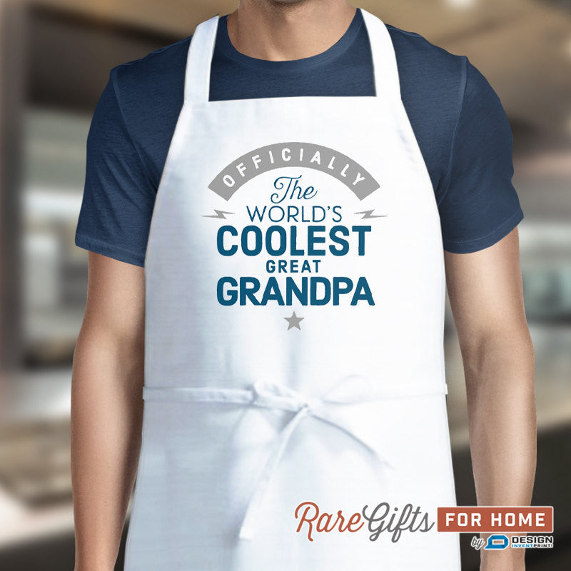Great Grandpa Gift, Birthday Gift For Great Grandpa! Funny Apron, Coolest Great Grandpa, Cooking Gift, Awesome Great Grandpa