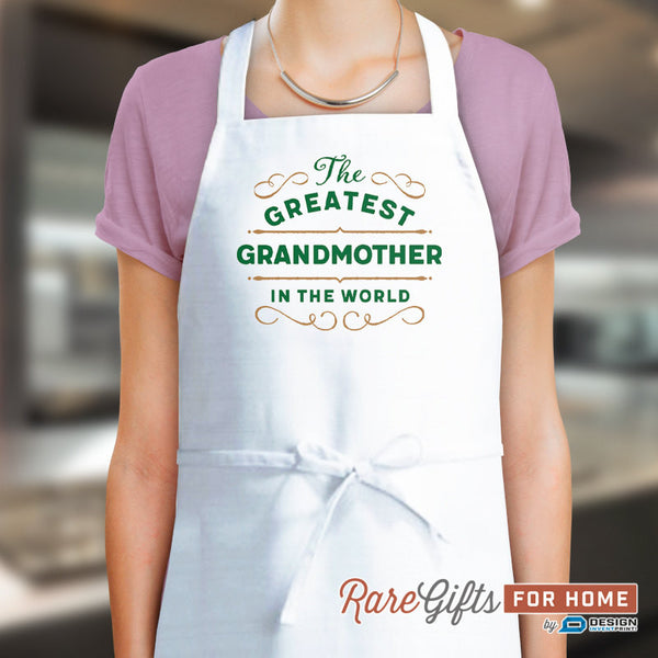 Grandmother Gift, Birthday Gift For Grandmother! Funny Apron, Greatest Grandmother, Cooking Gift, Personalized, Present For Grandmother