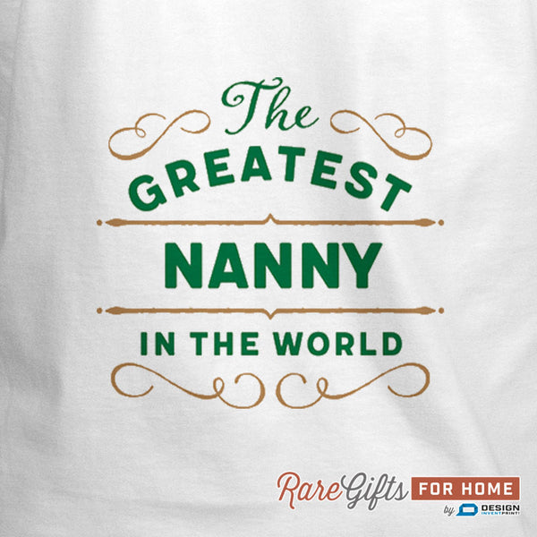 Nanny Gift, Cooking Gift, Birthday Gift For Nanny! Funny Apron, Greatest Nanny, Awesome Nanny, Personalized, Present For Nanny, Nanny Shirt
