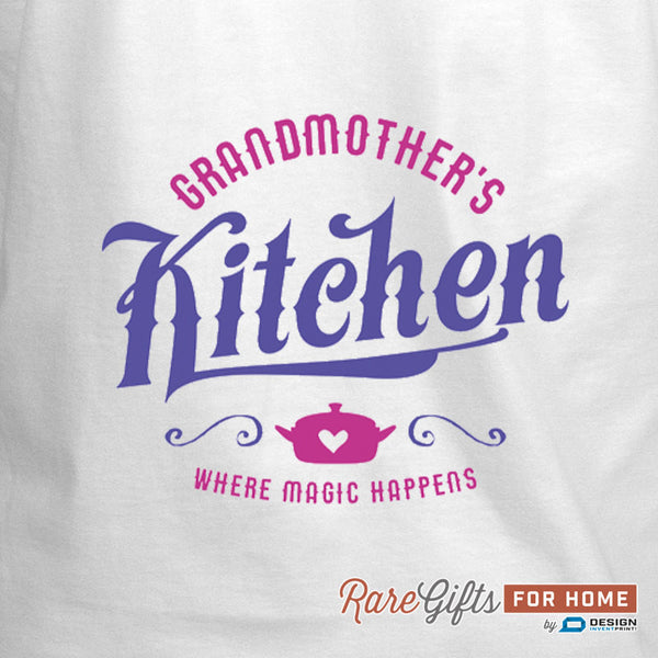 Grandmother Gift, Birthday Gift For Grandmother! Kitchen Magic, Grandmother's In The Kitchen, Awesome Grandmother, Grandmother Gift