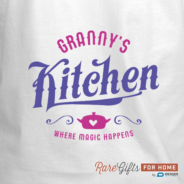 Granny Gift, Birthday Gift For Granny! Funny Apron, Granny's Kitchen Magic, Cooking Gift, Awesome Granny, Personalized, Granny Shirt