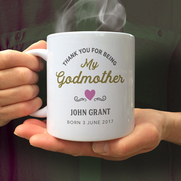 Godmother Gift,  Godmother Mug,  Godmother Present,  Be My,  Will You Be My Godmother,  Godmother Ornament,  Christening Gift, Custom Mug