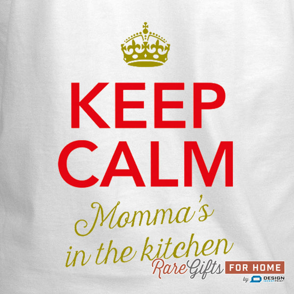 Momma Gift, Birthday Gift For Momma! Funny Apron, Keep Calm, Momma's Kitchen, Cooking Gift, Momma, Personalized, Alternative Momma Shirt