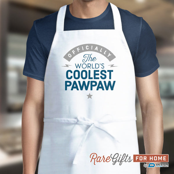 Paw Paw Gift, Cooking Gift, Awesome Birthday Gift For Paw Paw! Funny Apron, Coolest Paw Paw, Paw Paw, Personalized, Present For Paw Paw