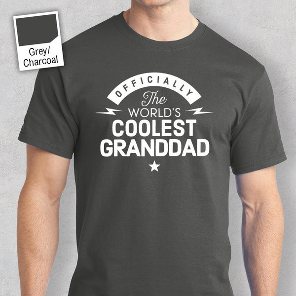 Cool Granddad, Granddad Gift, Granddad T-shirt, World's Coolest Granddad, Birthday Gift For Granddad,  Granddad T-Shirt For Awesome Granddad