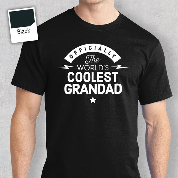 Cool Grandad, World's Most Coolest Grandad T-shirt, Personalized Grandad Gift, birthday tee, Grandad Gift, Grandad T-Shirt, Awesome Grandad!