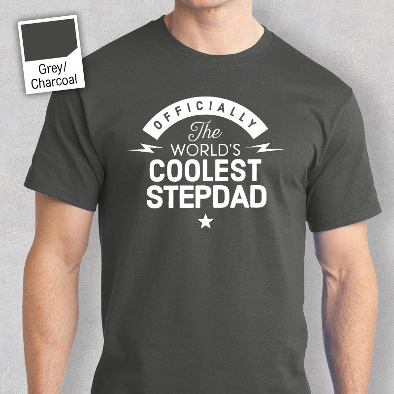 Cool Stepdad Worlds Most Coolest T Shirt Personalized Gift Birthday