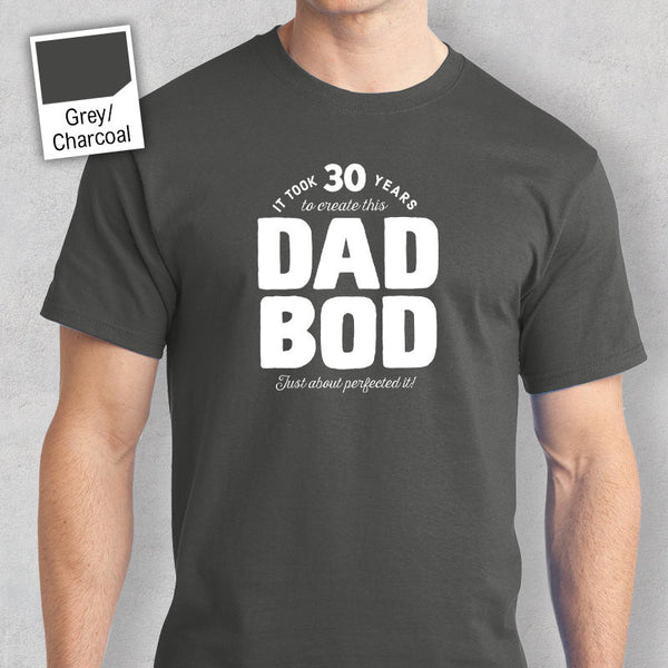 Men's 30th Birthday T Shirt Gift – Dad Bod