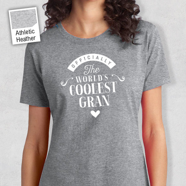 Cool Gran, Gran Gift, Gran T-shirt, World's Coolest Gran Shirt, Birthday Gift For Gran, Gran T-Shirt For An Awesome Gran!