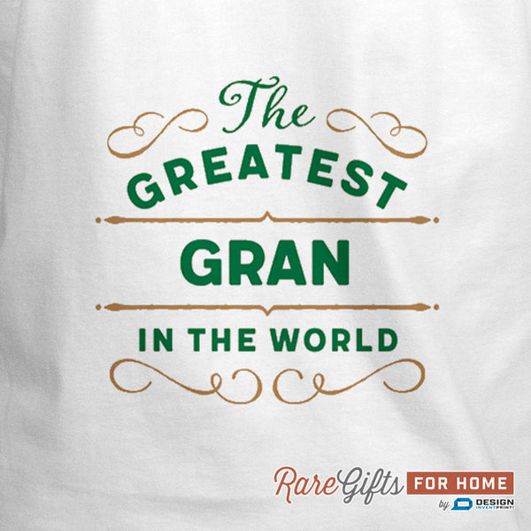 Gran Gift, Birthday Gift For Gran! Funny Apron, Greatest Gran, Cooking Gift, Awesome Gran, Personalized, Present For Gran, Gran Shirt