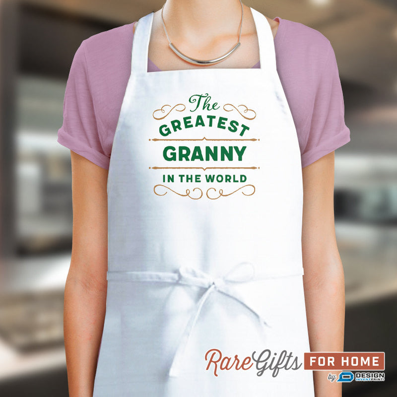 Granny Gift, Cooking Gift, Birthday Gift For Granny! Funny Apron, Greatest Granny, Awesome Granny, Personalized, Alternative Granny Shirt
