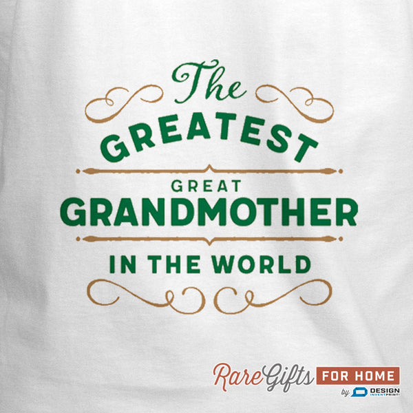 Great Grandmother Gift, Cooking Gift Birthday Gift For! Funny Apron, Greatest Great Grandmother, Personalized, Present Great Grandmother