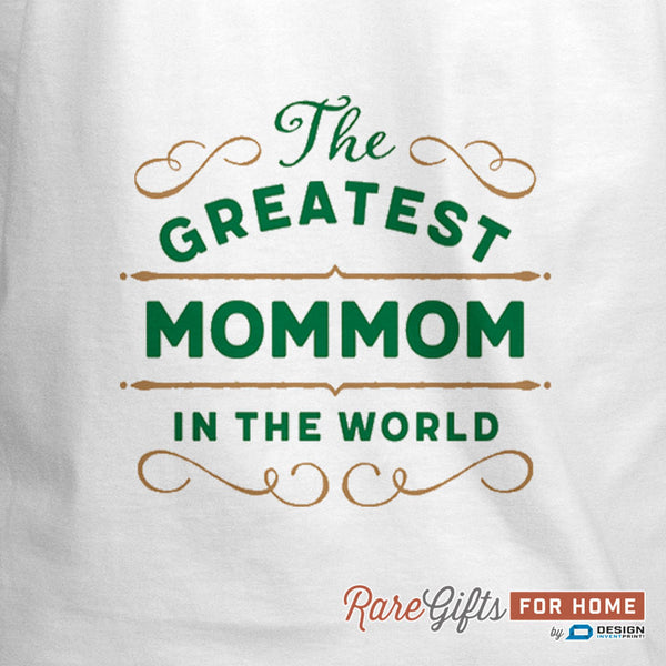MomMom Gift, Cooking Gift, Birthday Gift For MomMom! Funny Apron, Greatest MomMom, Awesome, Personalized, Present For MomMom, MomMom Shirt