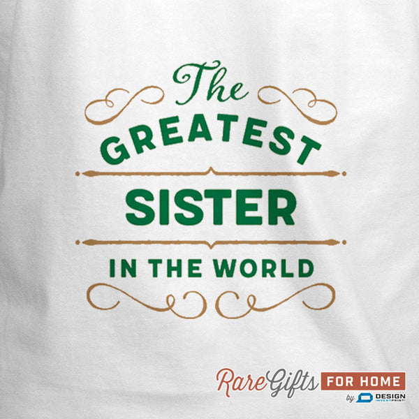 Sister Gift, Cooking Gift, Birthday Gift For Sister! Funny Apron, Greatest Sister, Awesome Sister, Personalized, Present For Sister