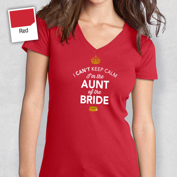 Women's, Aunt of The Bride, Gift, Wedding Shirt