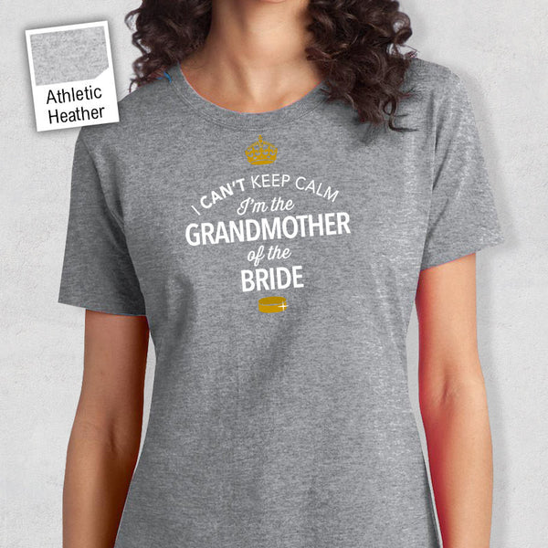 Grandmother Of The Bride, Personalised Bride's Grandmother Shirt, Grandmother Of The Bride, Wedding Shirt