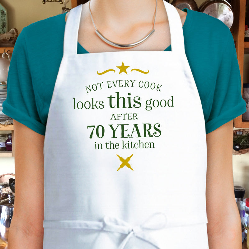 70th Birthday, Cooking Gift, Custom Apron, 70th Birthday Gift, 1947 Birthday Gift, Womens 70th Birthday Present, Look Good In The Kitchen!