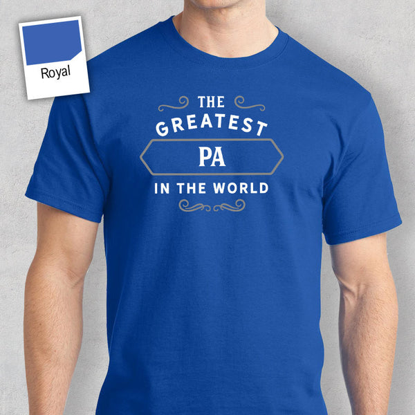 Men's Pa T Shirt Gift – Greatest – Navy