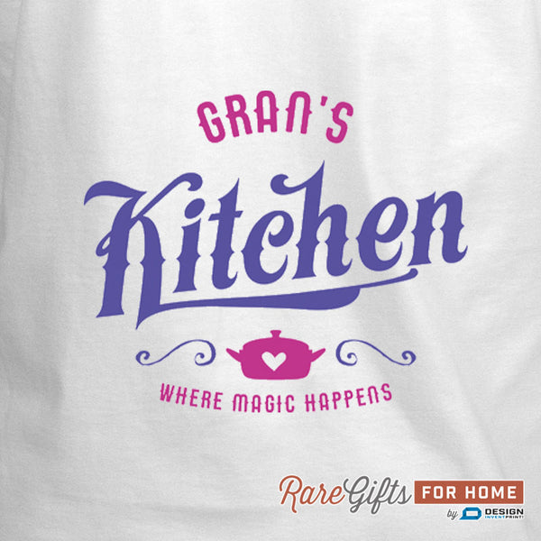 Gran Gift, Birthday Gift For Gran! Funny Apron, Gran's Kitchen Magic, Cooking Gift, Awesome Gran, Personalized, Present For Gran, Gran Shirt