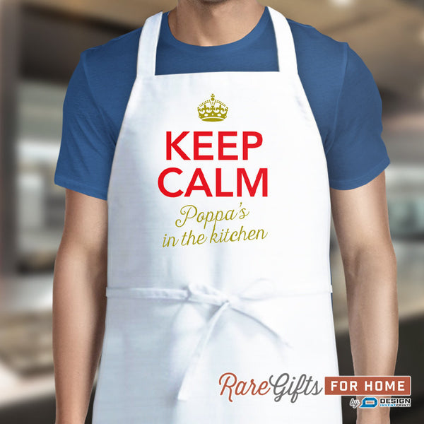 Poppa Gift, Birthday Gift For Poppa! Funny Apron, Keep Calm, Poppa, Cooking Gift, Awesome Poppa, Personalized, Present For Poppa
