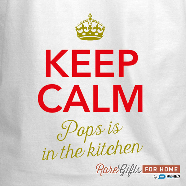 Pops Gift, Funny Apron, Birthday Gift For Pops! Keep Calm, Pops, Cooking Gift, Awesome Pops, Personalized, Present For Pops