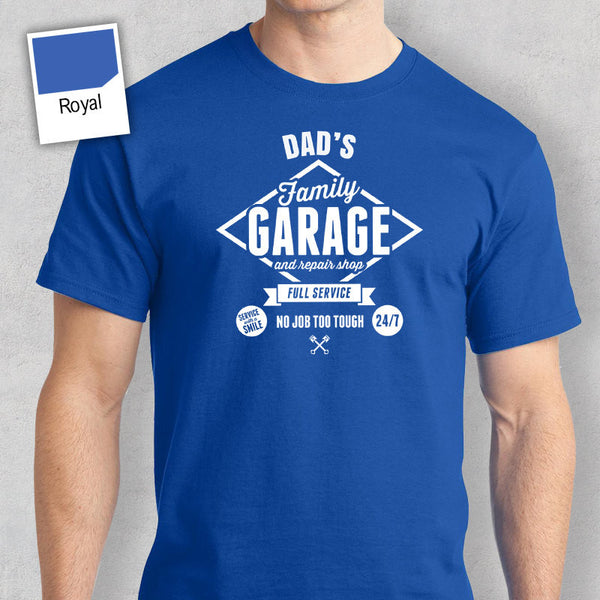 Dad's Garage T-shirt, Personalized Dad Gift, Birthday Gift For Dad, Dad Gift, Dad Shirt, New Dad Gift, Dad Tshirt, Funny T shirt