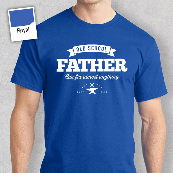 Old School Father T-shirt, Personalized Father Gift, Father Birthday Gift, Father Gift, Father Shirt, New Father Gift, Father Tshirt