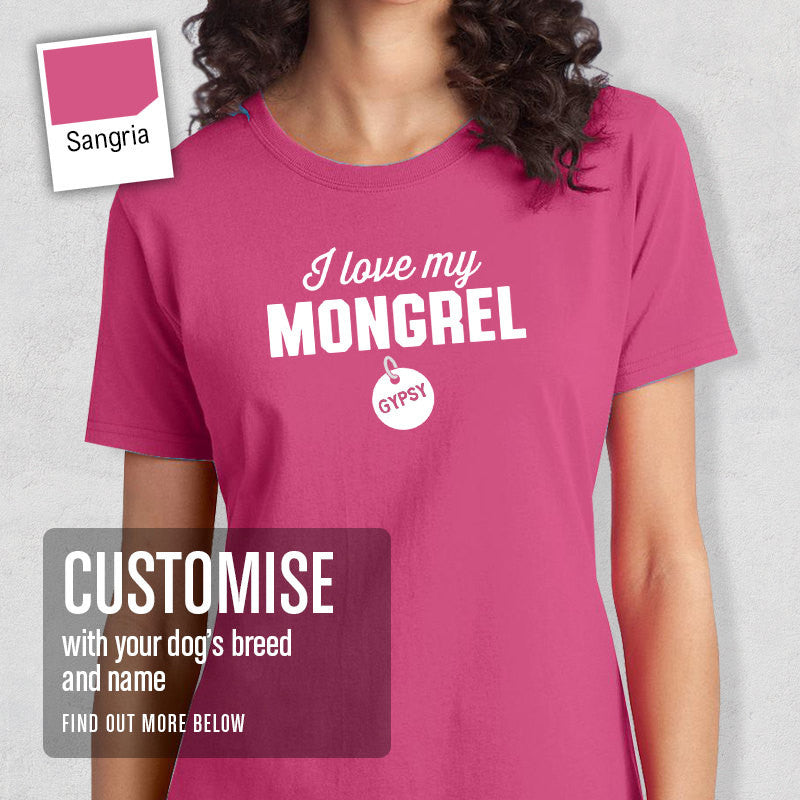 Mongrel Shirt, Custom Dog Tag T-Shirt, Personalized Mongrel With Message And Pets Name, Mongrel T-Shirt, Mongrel Gifts, Dog Tee Shirt