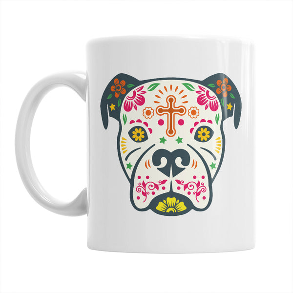 Boxer Dog Sugar Skull Gift,  Sugar Skull Mug,  Sugar Skull Coffee Mug, Halloween Gift,  Halloween Mug, Home Décor, Kitchen, Ornament, Décor