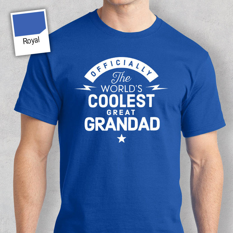 Cool Great Grandad, Coolest Great Grandad T-shirt, Personalized Great Grandad Gift. Birthday Gift For Great Grandad, Great Grandad T-Shirt!