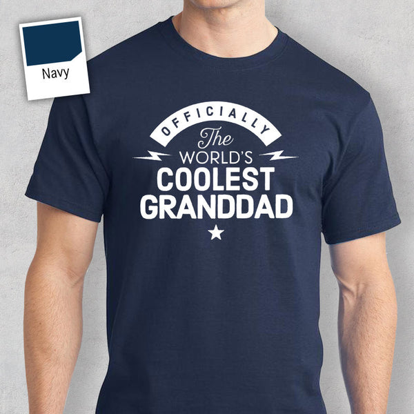 Cool Granddad, World's Most Coolest Granddad T-shirt, Personalized Granddad Gift, birthday tee, Granddad Gift, Granddad T-Shirt
