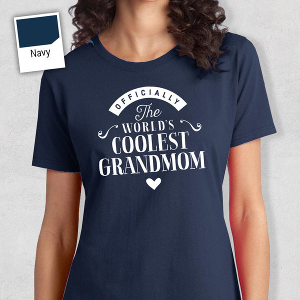 Cool Grandmom, Grandmom Gift, Grandmom T-shirt, World's Coolest Grandmom Shirt, Birthday Gift For Grandmom, Grandmom T-Shirt