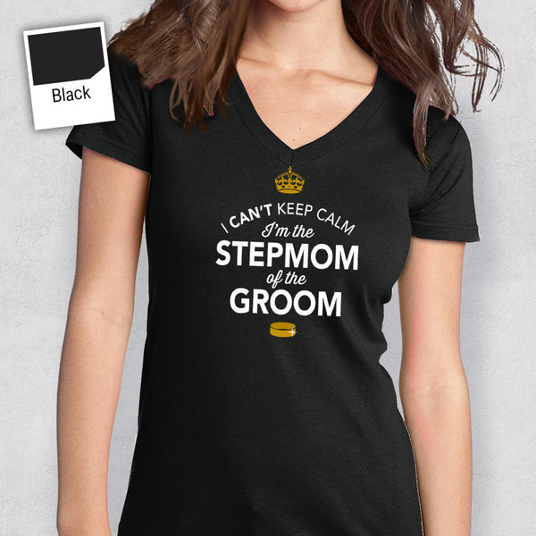 Stepmother of The Groom, Stepmother of the Groom, Personalized Grooms Stepmother Shirt, Wedding Shirt, Engagement, Funny Wedding Shirt!