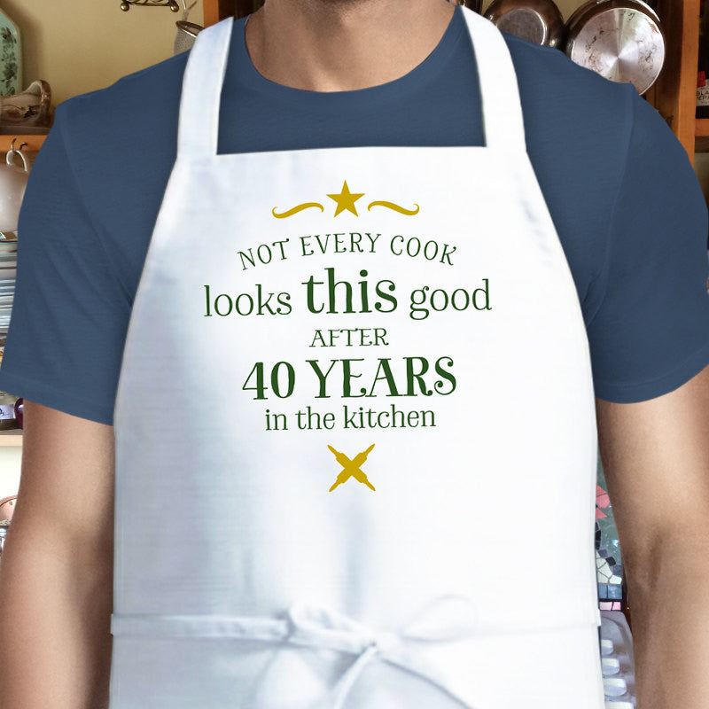 40th Birthday Cooking Gift Custom Apron 1977