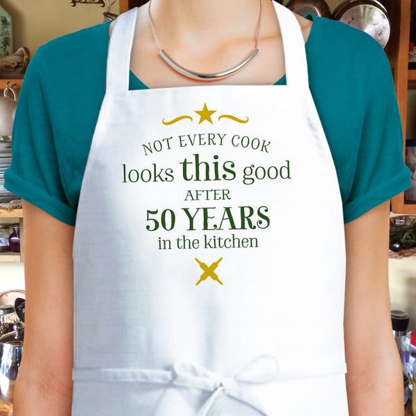 50th Birthday, Cooking Gift, Custom Apron, 50th Birthday Gift, 1967 Birthday Gift, Womens 50th Birthday Present, Look Good In The Kitchen!