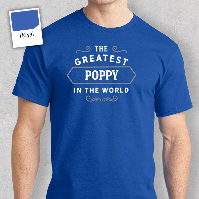 Men's Poppy T Shirt Gift – Greatest – Royal Blue